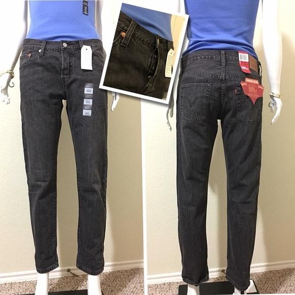 d8325cad Levi's Jeans   Levis 501 Ct Womens Cropped Coal Black   Poshmark